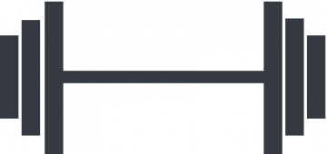 Pictogramme représentant un haltère pour illustrer le travail