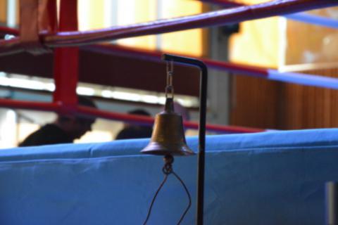 Photo d'une cloche de ring prise lors d'un événement organisé par SHOOTO Switzerland