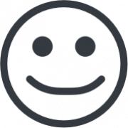 Pictogram representing a smiley face