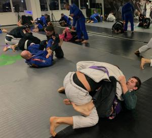 Picture taken during a BJJ class in our gym of Sierre